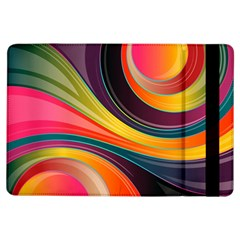 Abstract Colorful Background Wavy Ipad Air Flip