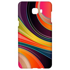 Abstract Colorful Background Wavy Samsung C9 Pro Hardshell Case
