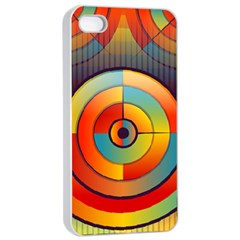 Background Colorful Abstract Apple Iphone 4/4s Seamless Case (white)