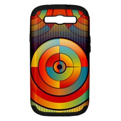 Background Colorful Abstract Samsung Galaxy S Iii Hardshell Case (pc+silicone)