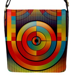 Background Colorful Abstract Flap Messenger Bag (s)