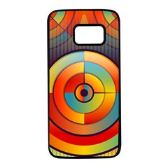 Background Colorful Abstract Samsung Galaxy S7 Black Seamless Case