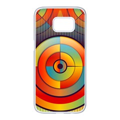 Background Colorful Abstract Samsung Galaxy S7 Edge White Seamless Case by Nexatart