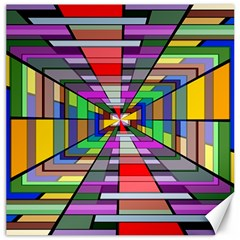 Art Vanishing Point Vortex 3d Canvas 16  X 16   by Nexatart