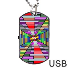 Art Vanishing Point Vortex 3d Dog Tag Usb Flash (two Sides)