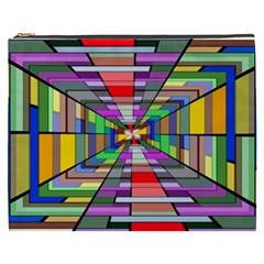 Art Vanishing Point Vortex 3d Cosmetic Bag (xxxl)
