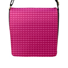 Abstract Background Card Decoration Flap Messenger Bag (l)