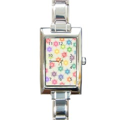 Polygon Geometric Background Star Rectangle Italian Charm Watch
