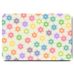 Polygon Geometric Background Star Large Doormat  by Nexatart