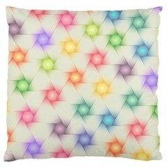 Polygon Geometric Background Star Large Cushion Case (two Sides)