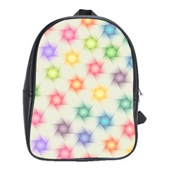 Polygon Geometric Background Star School Bag (xl)