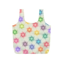 Polygon Geometric Background Star Full Print Recycle Bags (s)