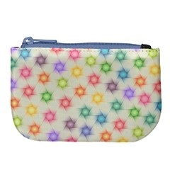 Polygon Geometric Background Star Large Coin Purse by Nexatart