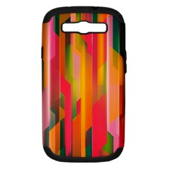 Background Abstract Colorful Samsung Galaxy S Iii Hardshell Case (pc+silicone)