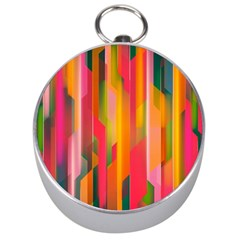 Background Abstract Colorful Silver Compasses