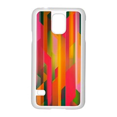 Background Abstract Colorful Samsung Galaxy S5 Case (white)