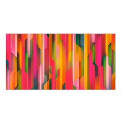 Background Abstract Colorful Satin Shawl