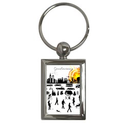 Good Morning, City Key Chains (rectangle)  by FunnyCow