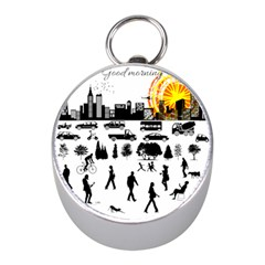 Good Morning, City Mini Silver Compasses by FunnyCow