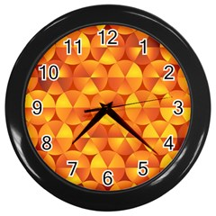Background Triangle Circle Abstract Wall Clocks (black)