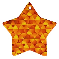 Background Triangle Circle Abstract Star Ornament (two Sides)