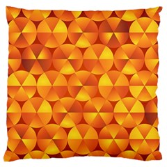 Background Triangle Circle Abstract Large Flano Cushion Case (two Sides)