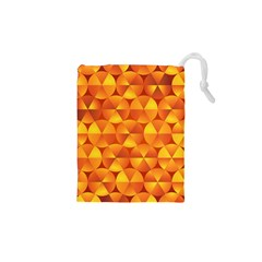 Background Triangle Circle Abstract Drawstring Pouches (xs)