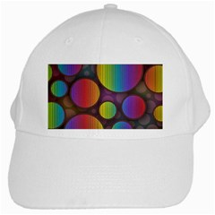 Background Colorful Abstract Circle White Cap