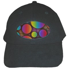 Background Colorful Abstract Circle Black Cap