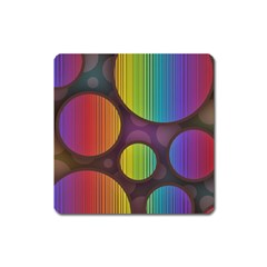 Background Colorful Abstract Circle Square Magnet