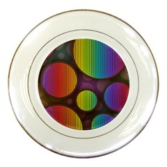 Background Colorful Abstract Circle Porcelain Plates
