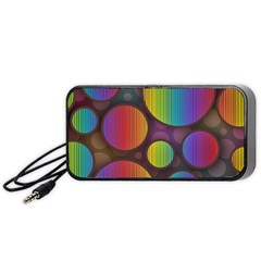 Background Colorful Abstract Circle Portable Speaker