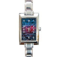 Water Color Red Rectangle Italian Charm Watch by FunnyCow