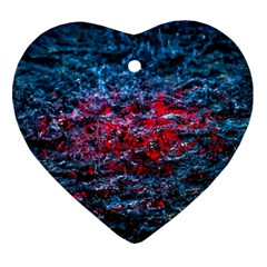Water Color Red Ornament (heart)
