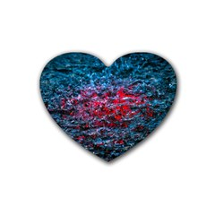 Water Color Red Heart Coaster (4 Pack)