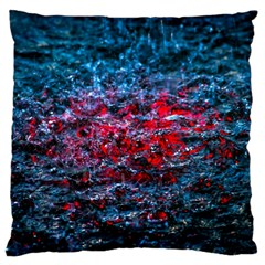 Water Color Red Standard Flano Cushion Case (one Side) by FunnyCow