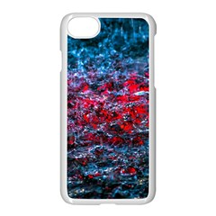 Water Color Red Apple Iphone 8 Seamless Case (white)