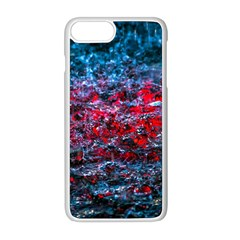 Water Color Red Apple Iphone 8 Plus Seamless Case (white)