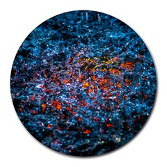 Water Color Orange Round Mousepads