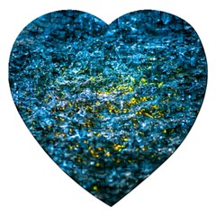 Water Color Yellow Jigsaw Puzzle (heart)