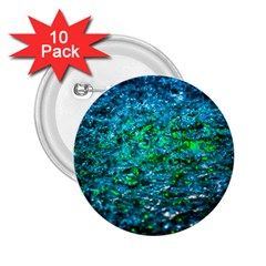 Water Color Green 2 25  Buttons (10 Pack)