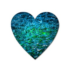 Water Color Green Heart Magnet