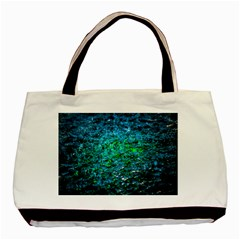 Water Color Green Basic Tote Bag by FunnyCow