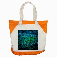 Water Color Green Accent Tote Bag by FunnyCow