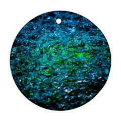 Water Color Green Round Ornament (two Sides)