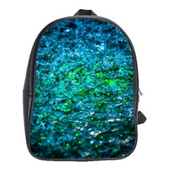 Water Color Green School Bag (large)
