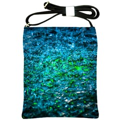 Water Color Green Shoulder Sling Bags by FunnyCow