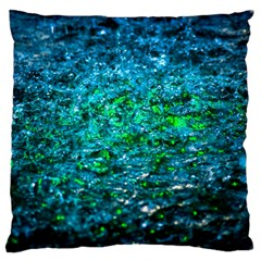Water Color Green Standard Flano Cushion Case (one Side) by FunnyCow
