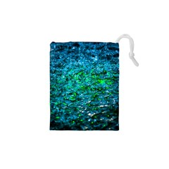 Water Color Green Drawstring Pouches (xs)  by FunnyCow