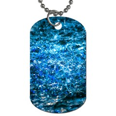 Water Color Blue Dog Tag (two Sides)